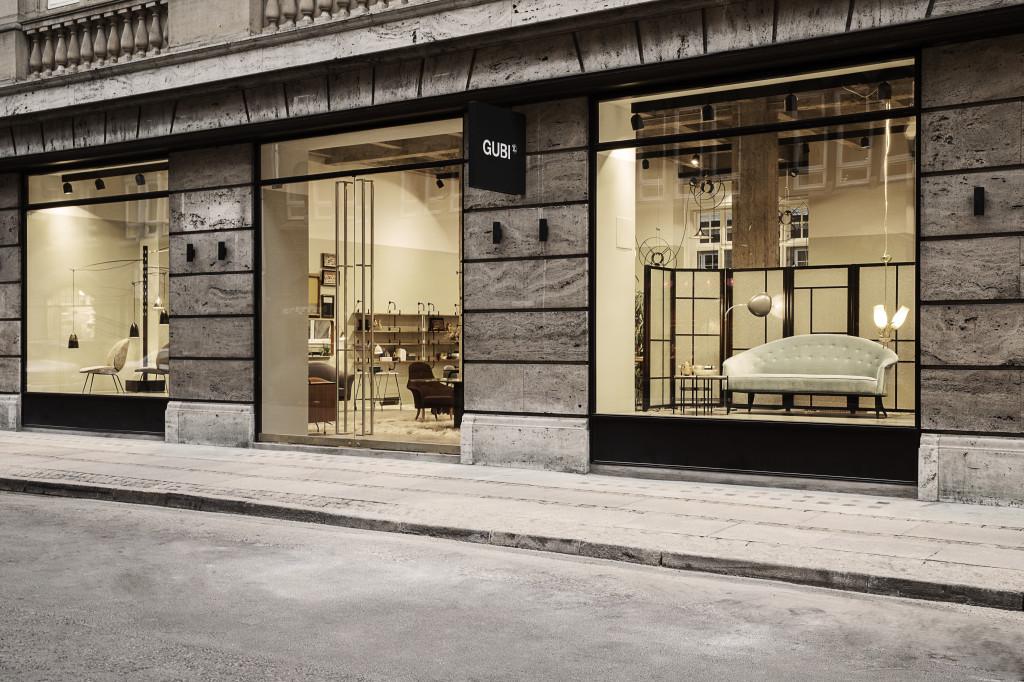 Creative office furniture design - The First Gubi Store In Copenhagen