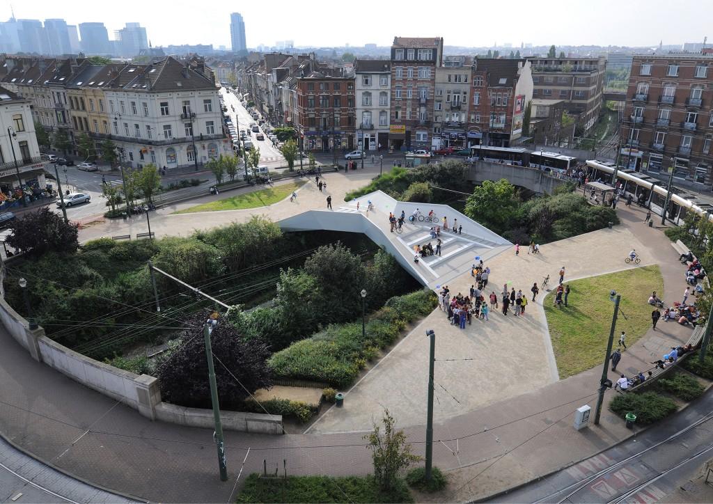 MSA: Place of La Cage-aux-Ours (2013). Public space development. Bussels, Belgium. Copyright Serge Brison.
