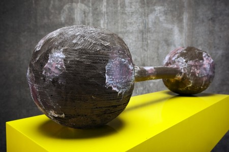 Joep Van Lieshout. AVL/GK (2015). Wood. Size 126 x 105 x 40 cm. Courtesy of the artist and Almine Rech Gallery.