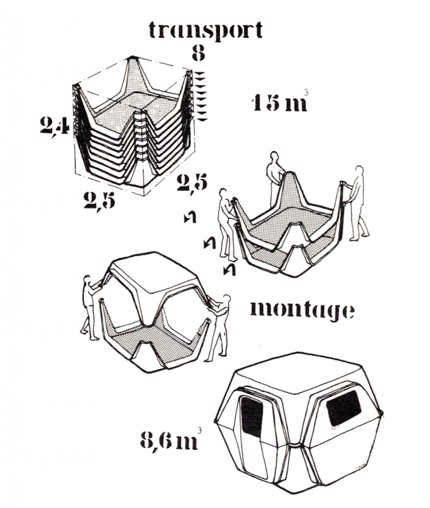 Georges Candilis and Anja Blomstedt: Habitable Module (1972).