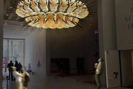 """ONEHUNDREDFORTYEIGHT LEGS"" installation by Jacopo Foggini (image courtesy Edra)"