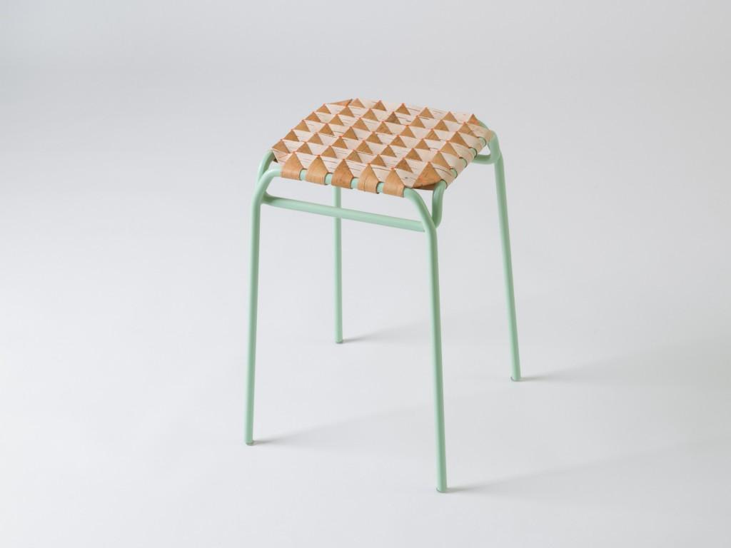 """Anastasiya Koshcheeva - """"Taburet"""" woven stool (photo by Crispy Point, courtesy of the designer)"""
