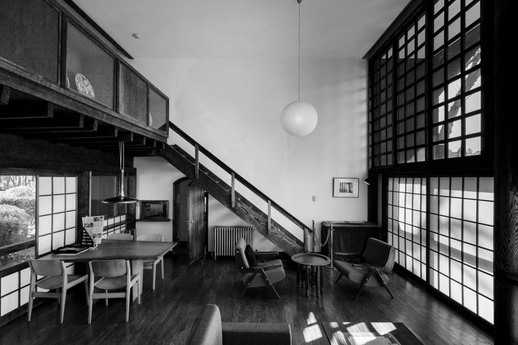 Tokyo,March 6 2014 - Maekawa house by Kunio Maekawa in the Edo-Tokyo open-air architecture museum.