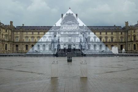 JR Liu Bolin 2016 Louvre Pyramid