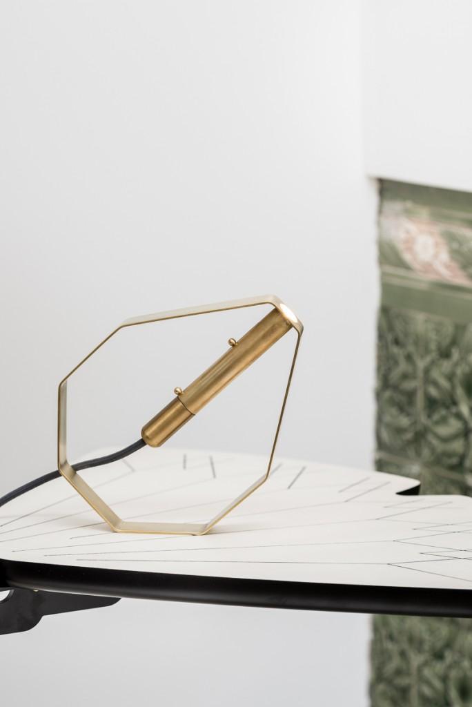 "Pietro Russo, ""Otto"" lamp with ""Ginko"" shelf"