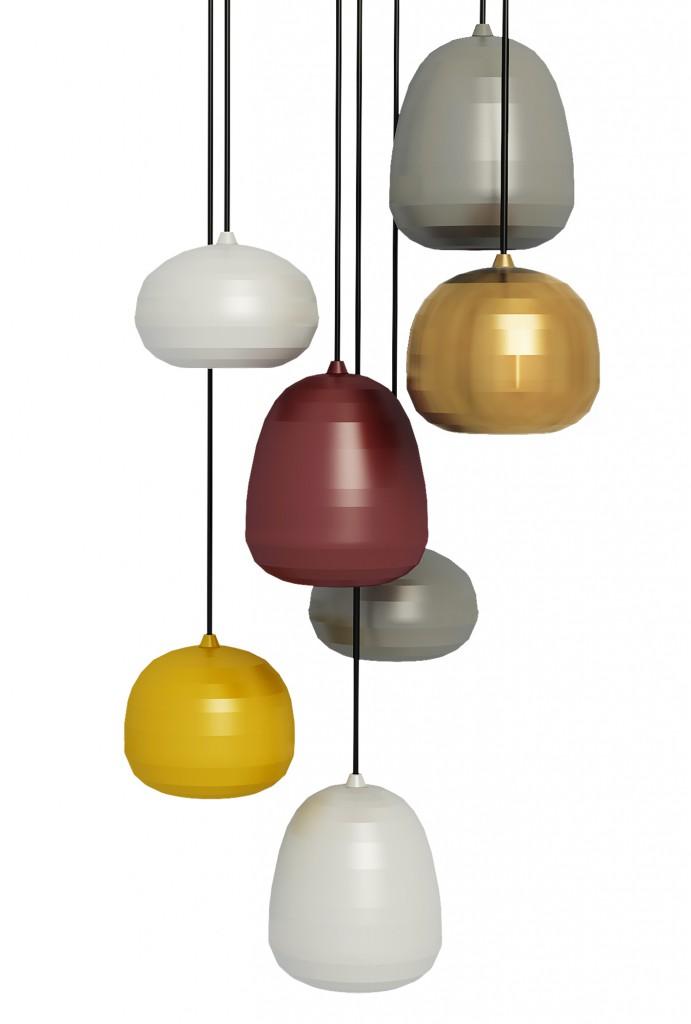 Pomi pendant lamps for Zero, 2015
