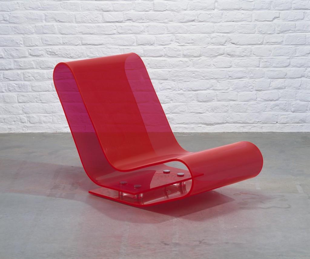 Low Chair Plastic by Maarten van Severen. Image courtesy CID Grand-Hornu © Philippe de Gobert.