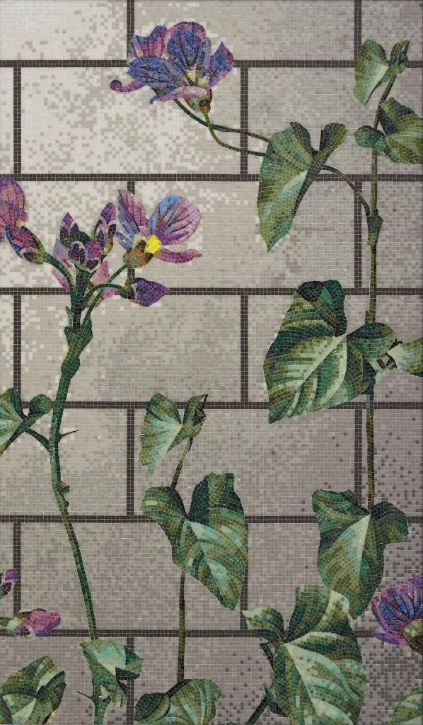Carreaux de bois et mosaïques murales pour Bisazza / Wood tiles and wall mosaics for Bisazza, 2016, Photo : Courtesy of Bisazza