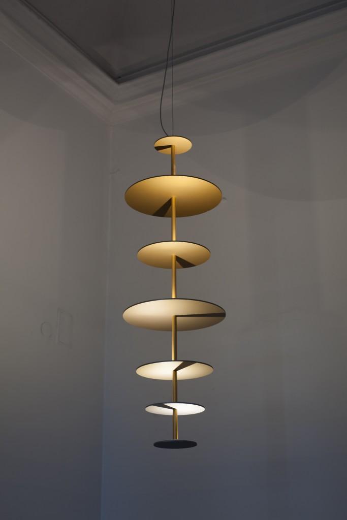 Maarten De Ceulaer & Alton, Suspension Sundial, aluminium / Sundial Chandelier, aluminum, Nilufar Gallery, Milan, 2016