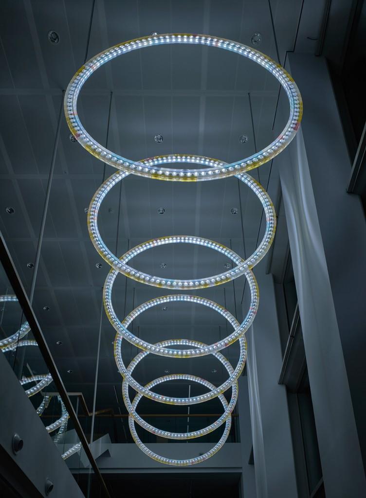Light Circles, Robeco Building, Rotterdam, 2016, Photo: Heidi de Gier