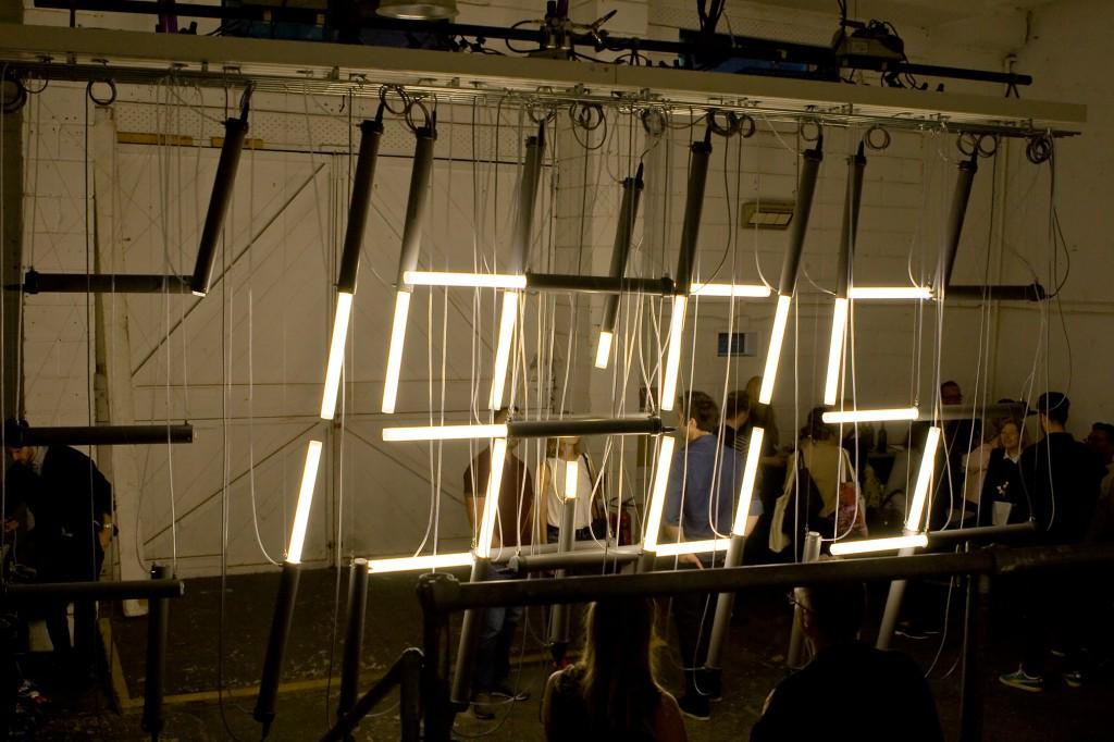 Tube Lamp Clock by Lambert Kamp