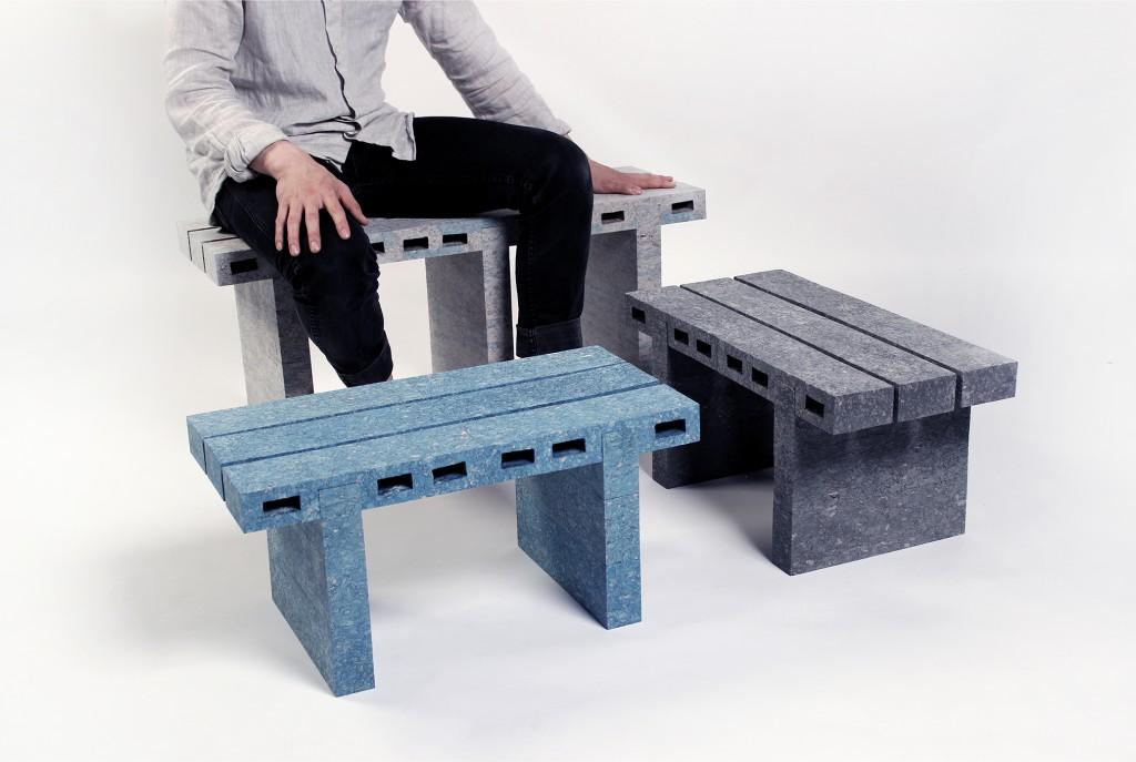 Paper Bricks by Studio Woojai. Photo: Woojai Lee