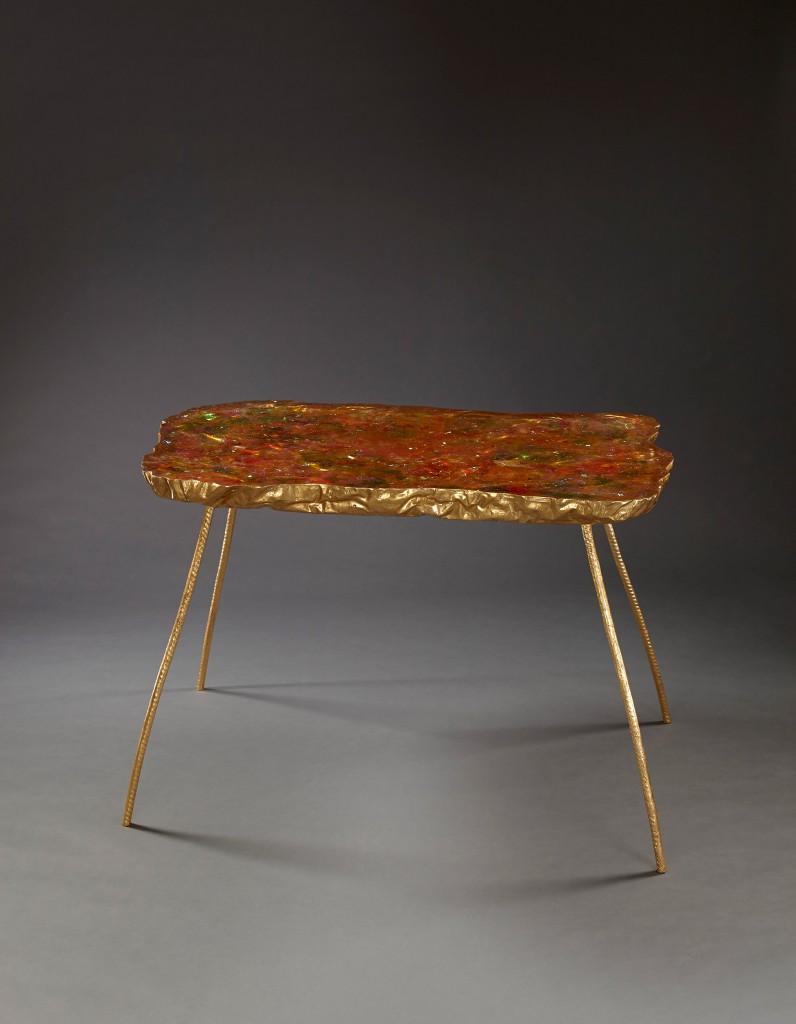 Flourescent Table by Helene de Saint-Lager