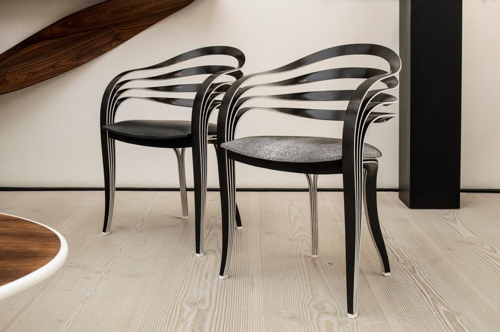 Genese chairs by Pierre Renard