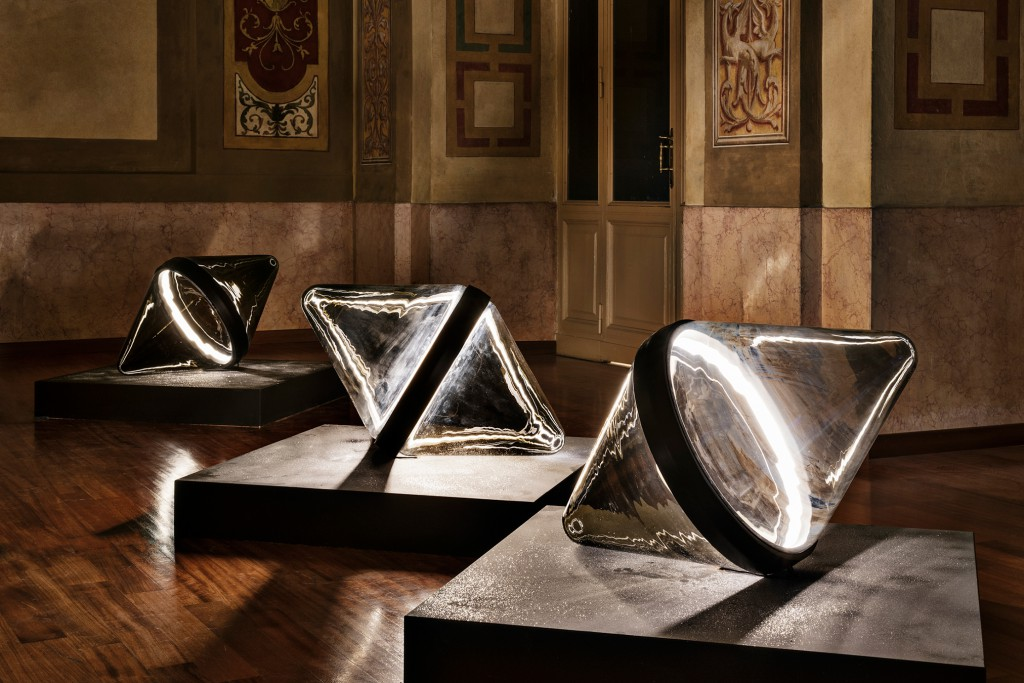Hollow by Dan Yeffet in installation during Milan Design Week
