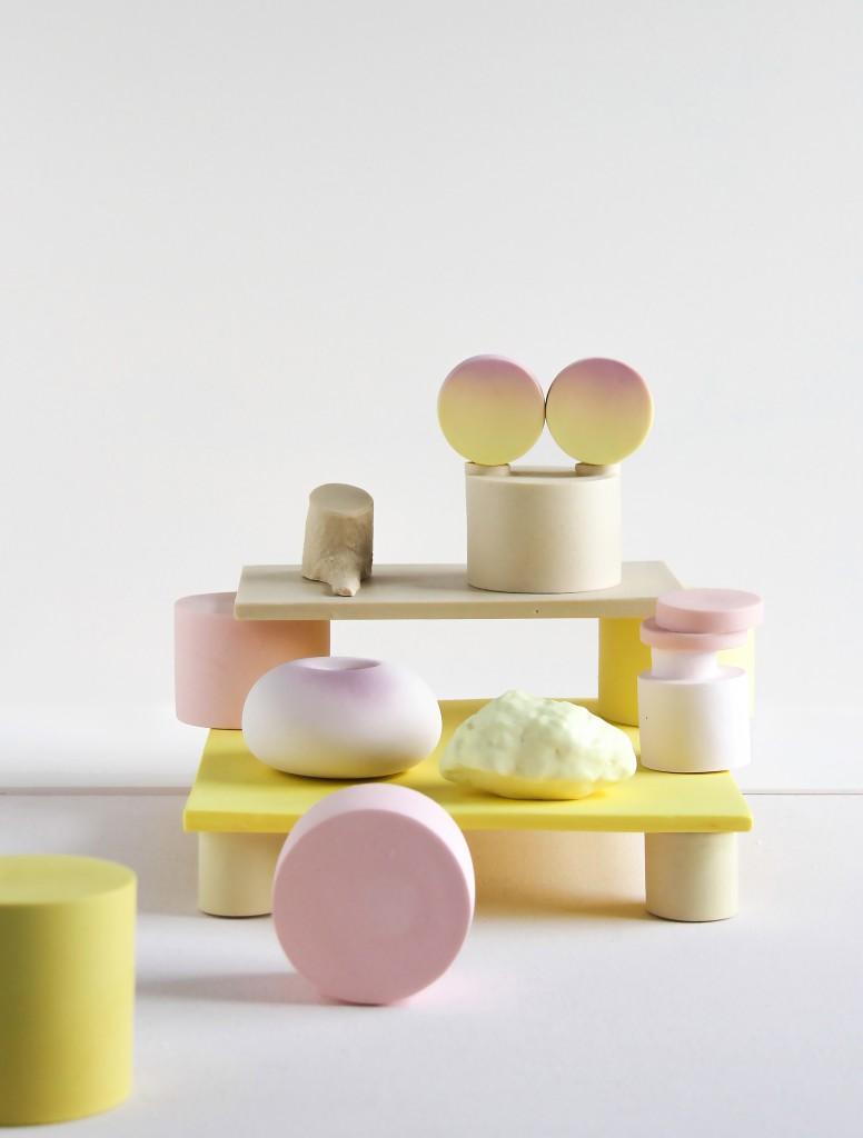 Sunset platform, 2017, stoneware, porcelain, bone china, courtesy Officine Saffi
