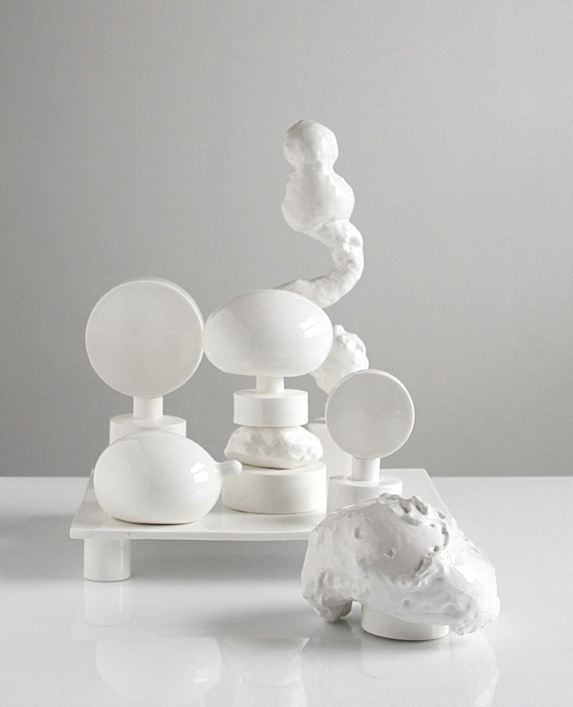 White platform, 2013 – 2017, bone china, courtesy Officine Saffi