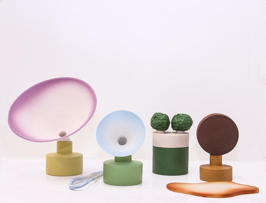 No title, 2017, porcelain , earthware, stoneware, aluminium shelf, courtesy Officine Saffi
