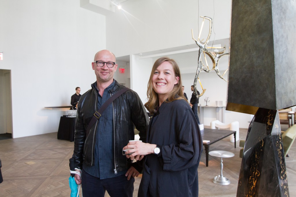The Statens Kunstfond Danmark's Bo Kolbye and Sara Thetmark