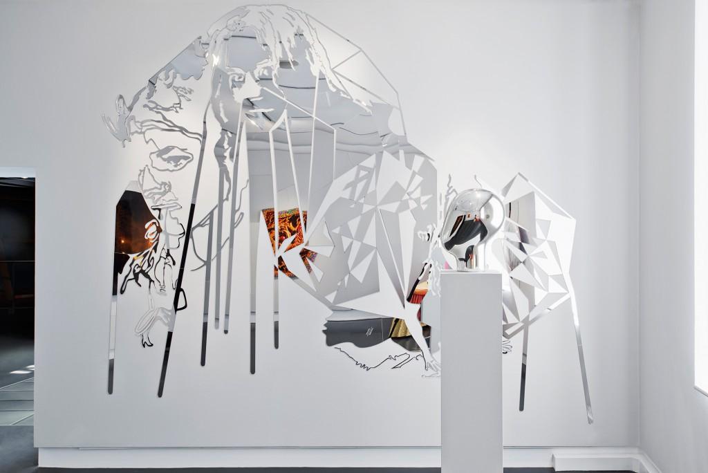 Installation view of MIrror Mirror with work by Loredana Sperini and Matali Crasset. Photo: Daniela Droz and Tonatiuh Ambrosetti