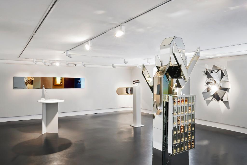 Installation view of MIrror Mirror with work by Daniela Droz, David Derksen, Carsten Höller,Maria Bruun, Matthias Kiss and Daniel Altmejd. Photo: Daniela Droz and Tonatiuh Ambrosetti