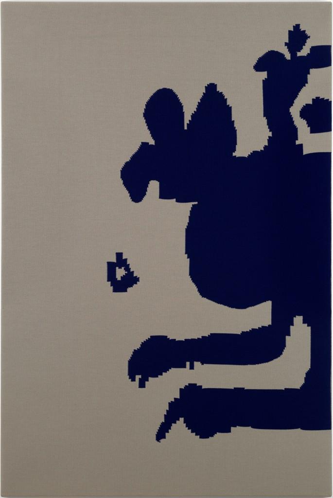 Untitled, 1992 knitted wool 70 7/8 x 47 1/4 in. (180 x 120 cm.) 71 7/8 x 48 1/4 x 2 7/8 in. (182.6 x 122.6 x 7.3 cm.) perspex case