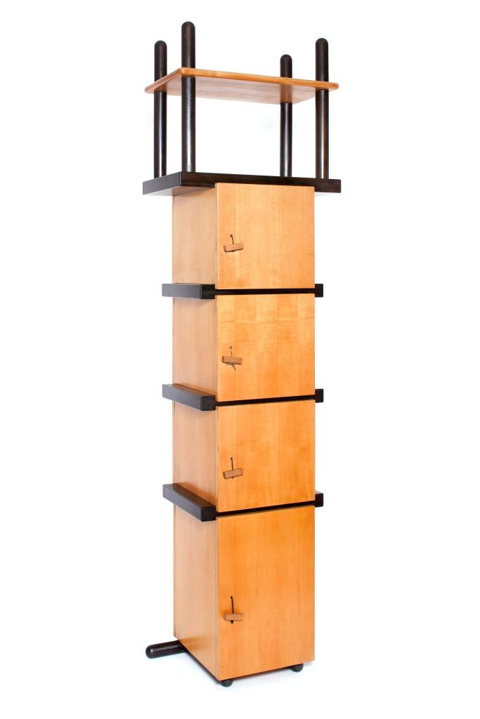 Cabinet, 1964. Courtesy of Friedman Benda Partially ebonized beech wood Unique.