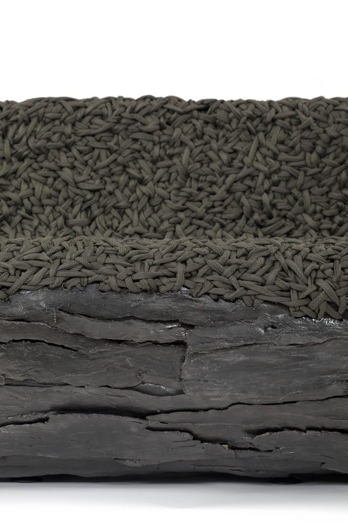Autumn Sofa, Cast iron, woven fabric, 80 x 315 x 81 cm, Photo: Fernando Laszlo
