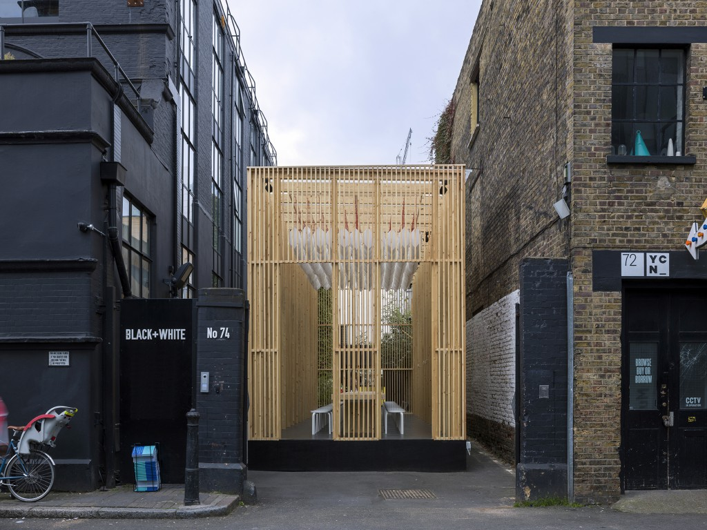 On Repeat pavilion exterior, designed by Universal Design Studio
