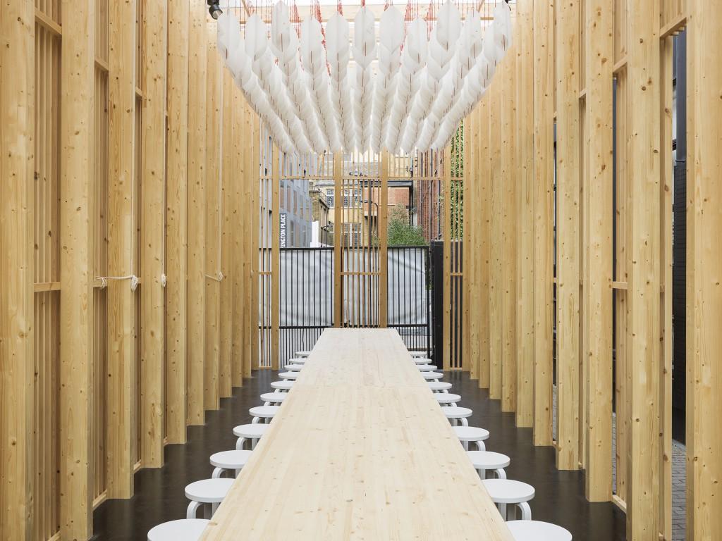 On Repeat pavilion interior, designed by Universal Design Studio