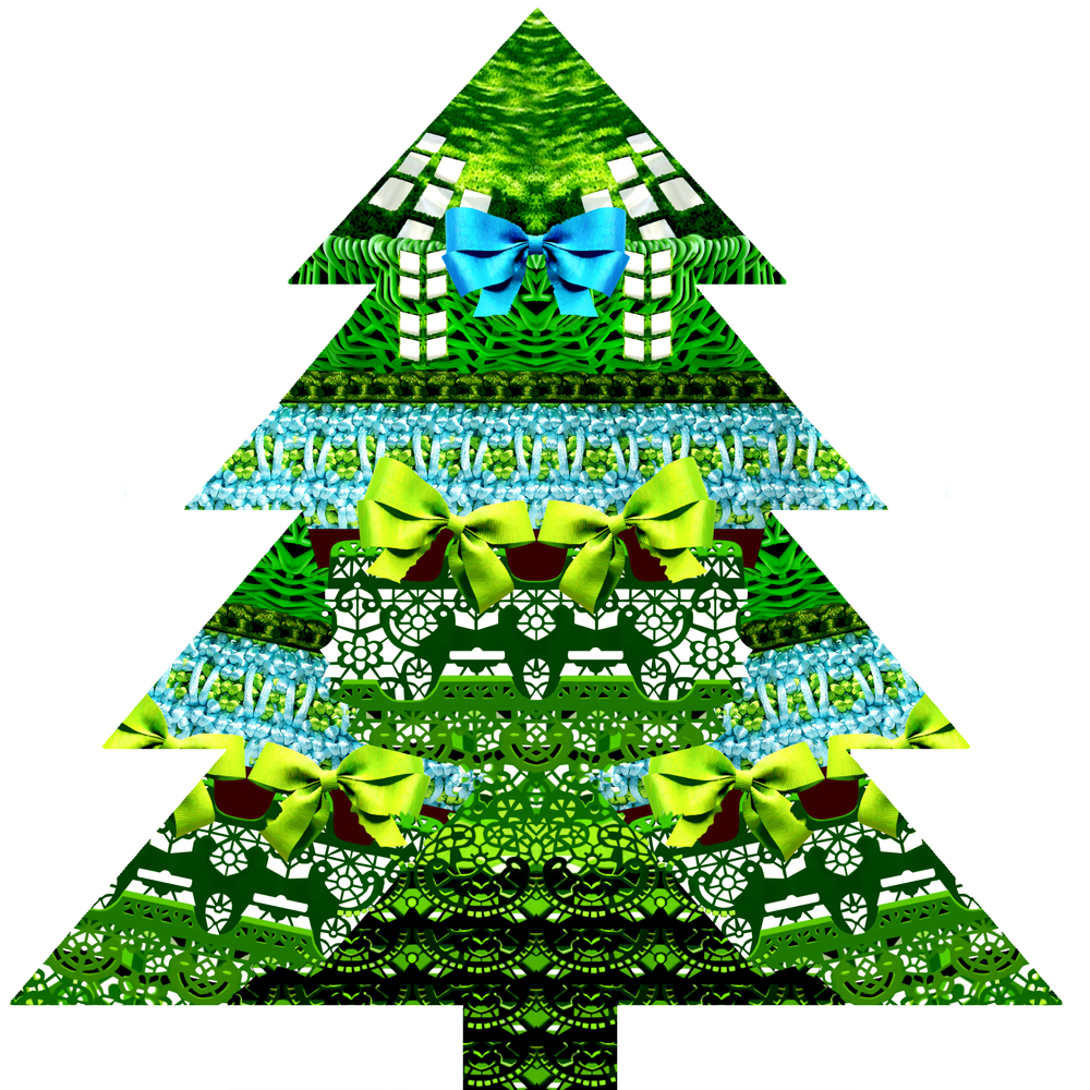 Merry christmas by mary katrantzou for Small designer christmas trees