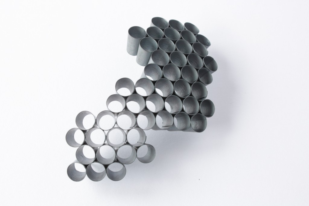 Fragments, brooch in oxidized silver, 2013