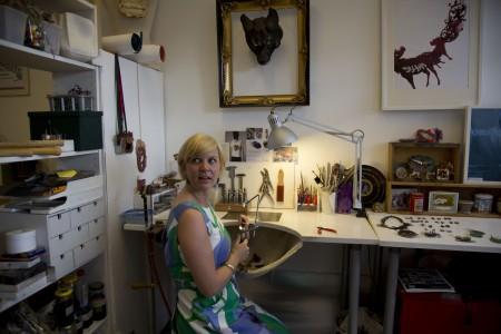 Anna Talbot _ vue de l'atelier