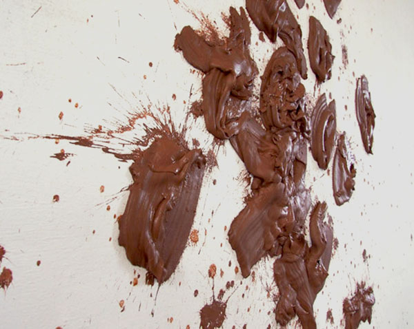 Throw, Site-specific installation, clay, 2010