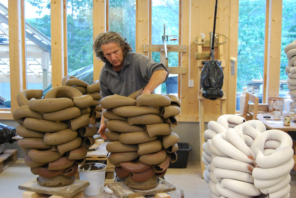 Torbjorn Kvasbo in his studio by Andre Gali
