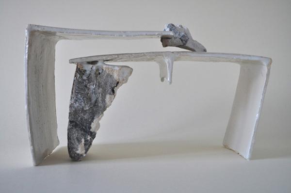 Anne Bulliot  Untitled, 2013   Mixed shaping techniques; glaze, slip, firing at 1040°C  Photo: Irène Mascret