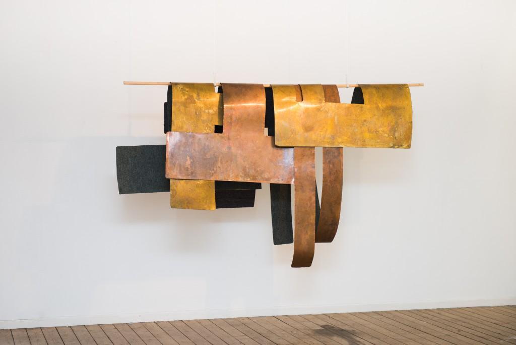 Detail of the textile sculpture, 2013