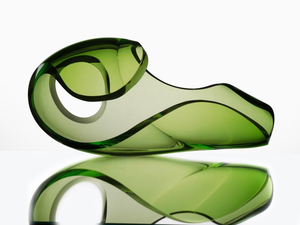 Mirage, sculpture, blown glass sculpture, cold cut glass, 2012.