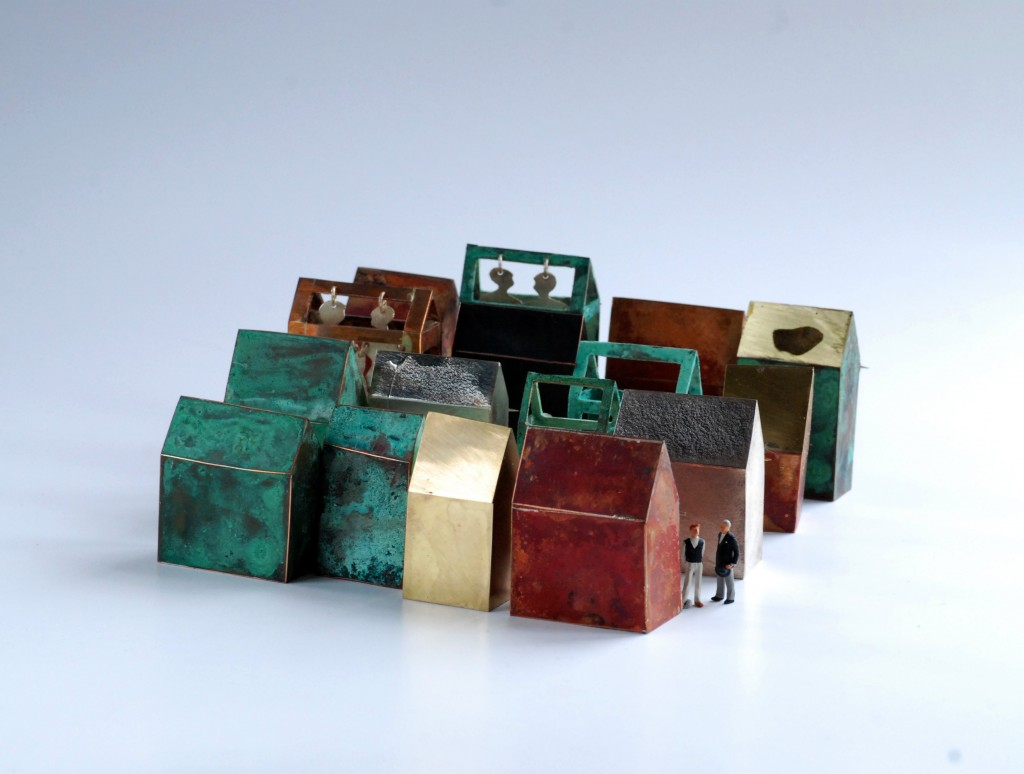 16 Houses, brooches in copper, 2011