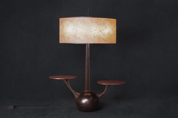 Carlos Motta - Nave Floor Lamp & Side Table