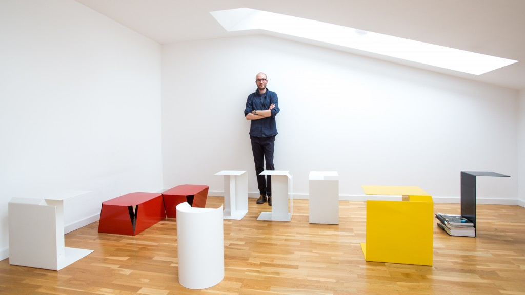 Pawel Grobleny with different furniture designs of neoplastic influence
