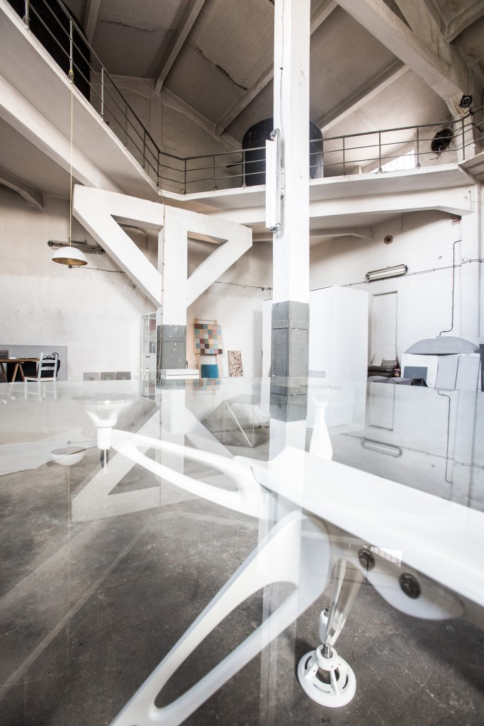 The designer duo's prototyping showroom in a former cosmetics factory