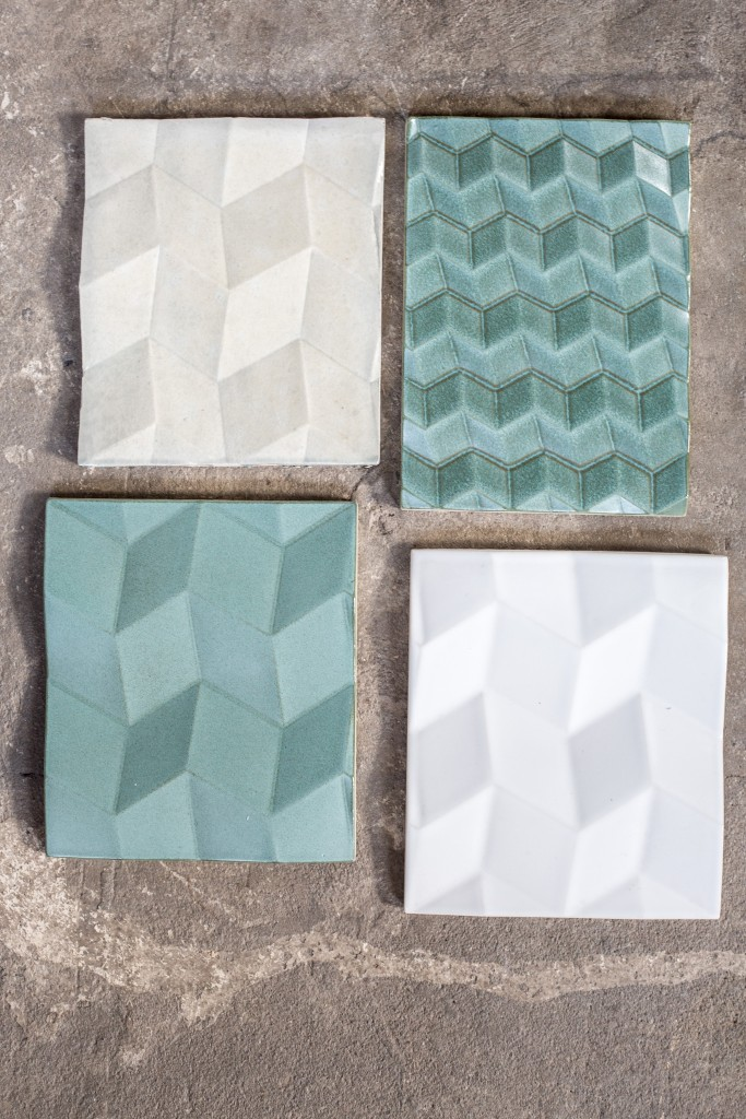 Caldo tiles in two colour variants
