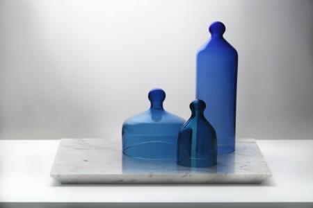 Observing Artifacts I, 2015 Carrara marble, hand blown glass, unique 36 x 50 x 35 cm