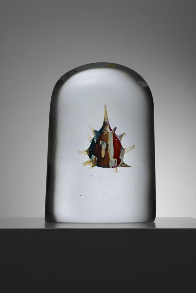 Viral Study, 2015 Hand blown glass, unique 33.5 x 22.5 x 14 cm