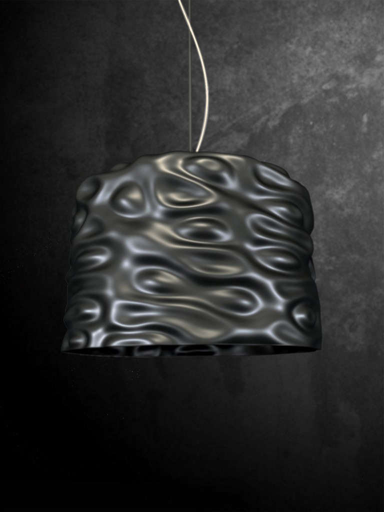 Magma Lamp exemplifies the designers recent exploration of organic form