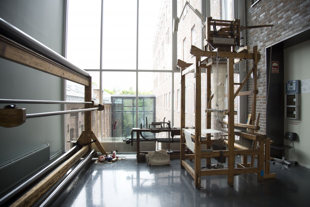 View of the textile workshop of the Visual Arts Faculty, Oslo Academy of the Arts