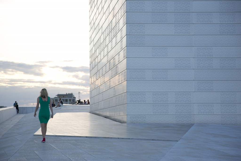 Marianne Zamecznik at the top of the Opera House in Oslo