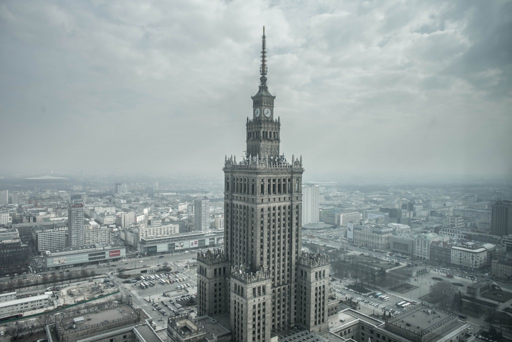 The Palace of Culture and Science of Warsaw, 1952-1955, before and after 2005