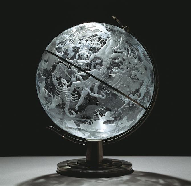 Celestial globe by Edward Hald (1929-1930)